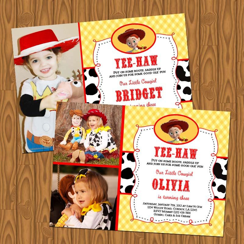 Toy Story Jessie Cowgirl Girl\'s Birthday Party Invitations. $13.99 ...