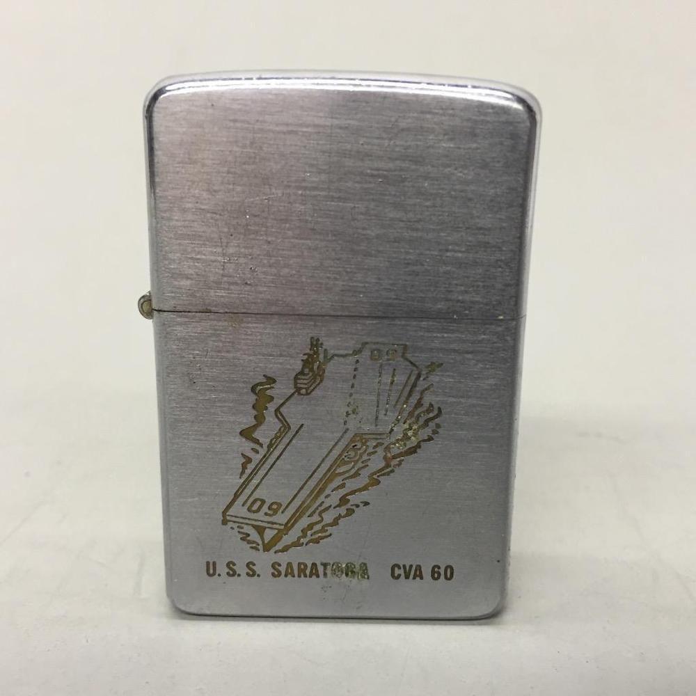 1957 Zippo Lighter U S S Saratoga Military Aircraft Carrier Ship Advertising Zippo Lighter Zippo Lighter