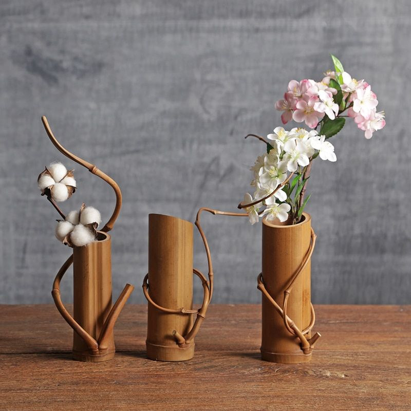 Cheap Decorative Vase Buy Quality Bamboo Vase Directly From China Wedding Decoration Vase Suppliers Vintage Style Bamb Vases Decor Flower Vases Bamboo Crafts