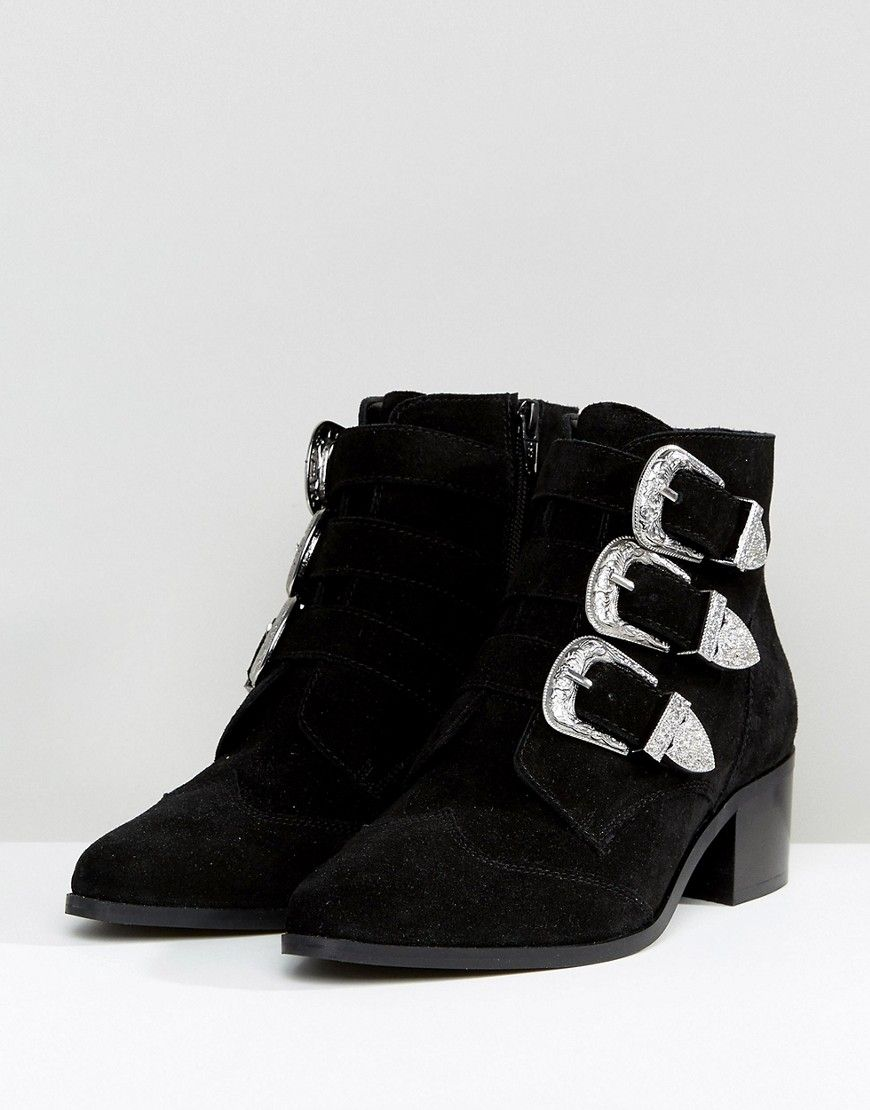 fea0353aaf92 RELIEVE Wide Fit Suede Buckle Ankle Boots | clothes | Buckle ankle ...