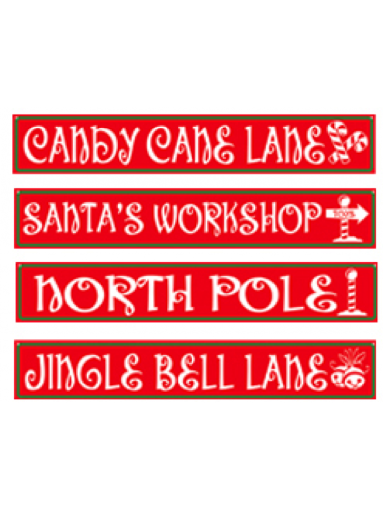 Beistle North Pole Street Sign Cutouts By This Item Is A Great Value 4 Per Package Winter Christmas Party For Festive Occasions High Quality