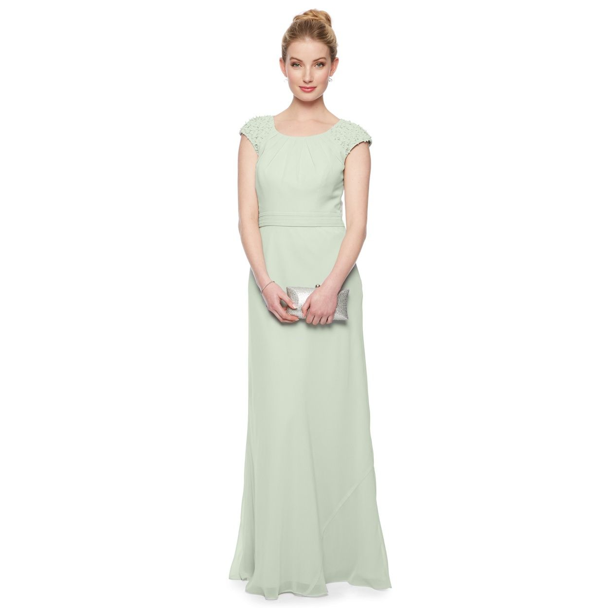 Debut mint green floral shoulder maxi dress at debenhams