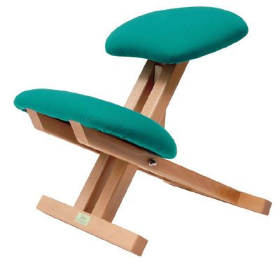 Silla de oficina ergon mica con apoyo para las rodillas for Sillas ergonomicas con apoyo lumbar