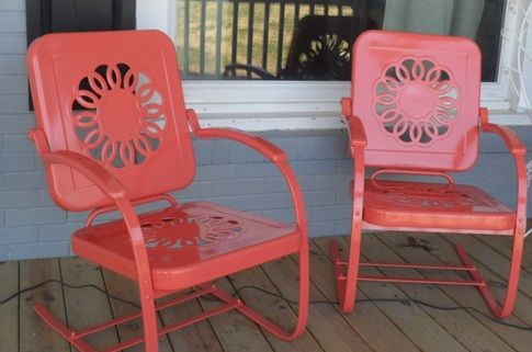 Restoring Vintage Gliders Amp Chairs Metal Lawn Chairs