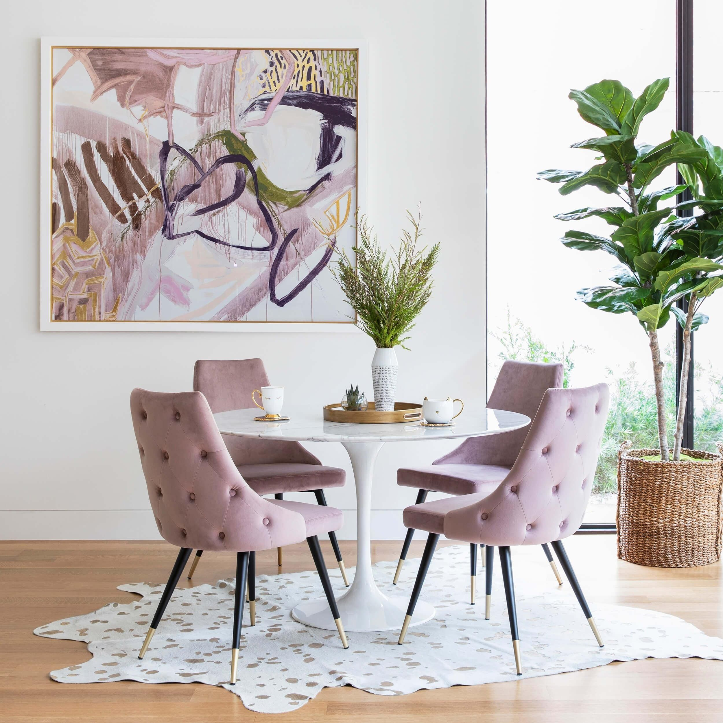 Piccolo Dining Chair, Pink (Set of 2)