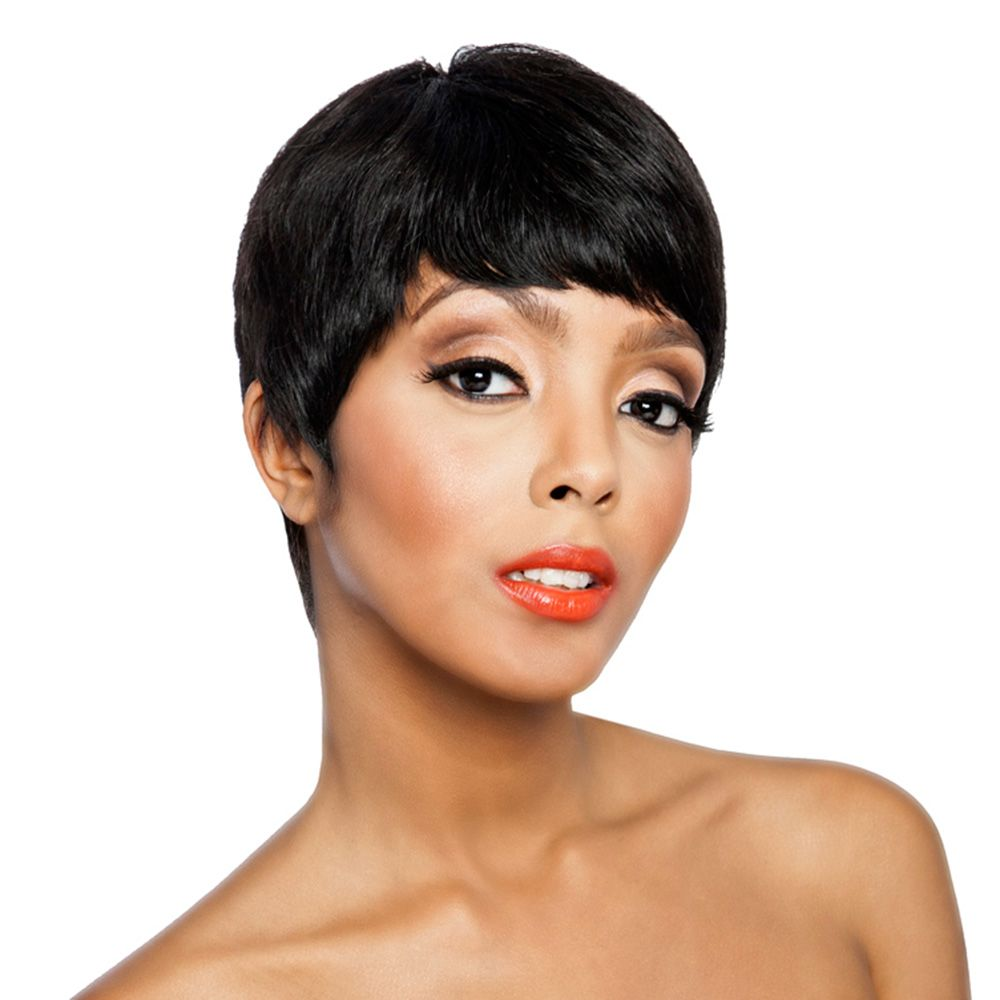 Mlh102 Short Human Hair Wigs Real Hair Extensions And Wig
