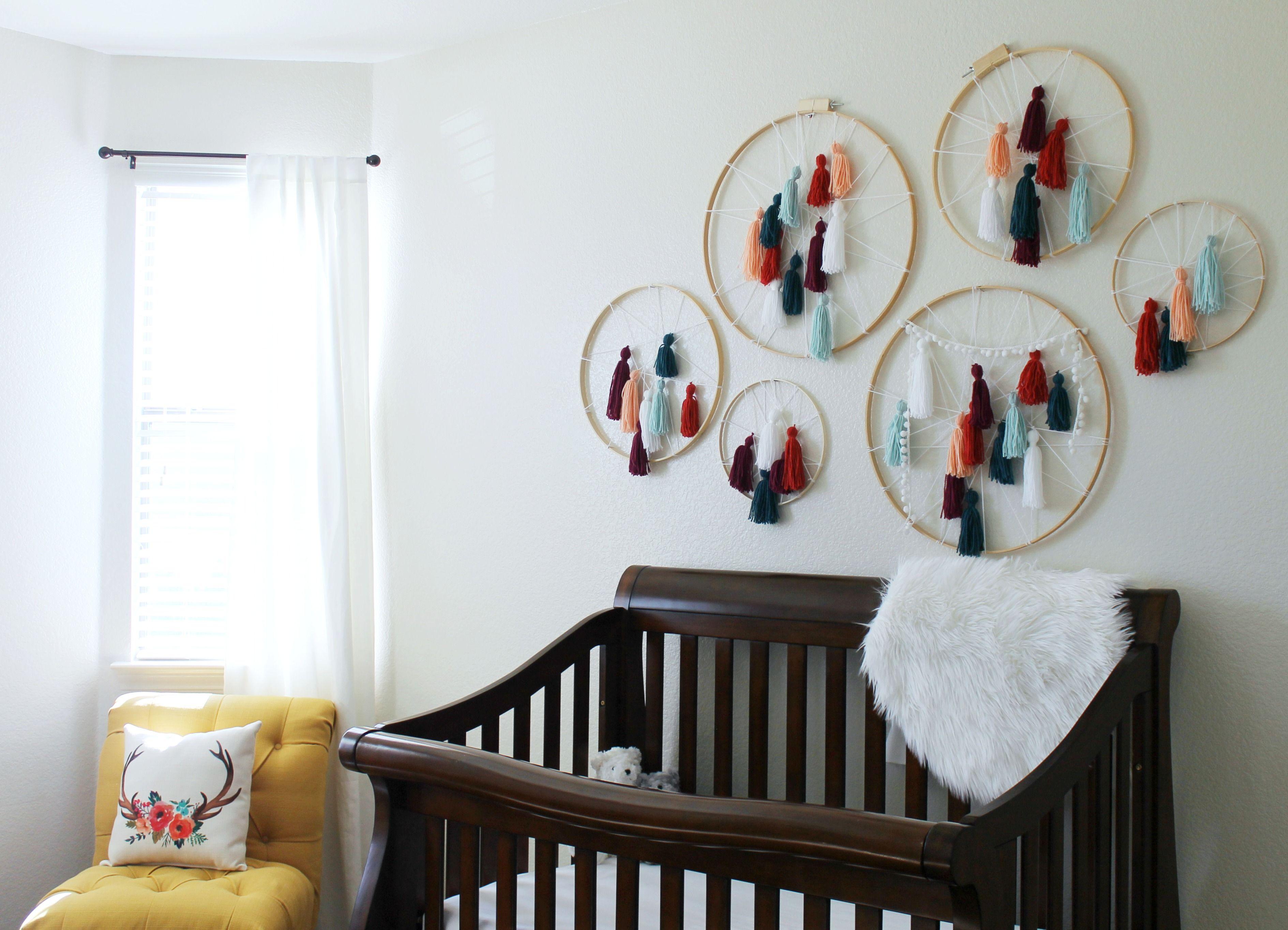 Dreamcatcher Wall Art diy tassel dreamcatcher yarn wall art tutorial | yarn wall art
