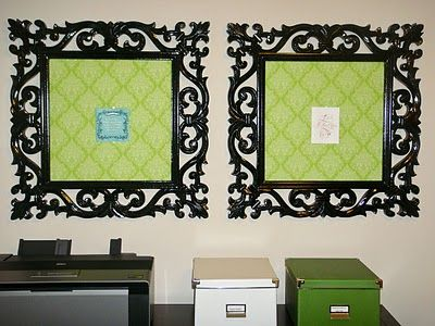 Frame cork boards covered in fabric