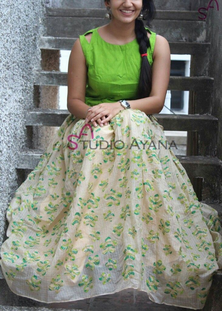 how to make maxi skirt from saree