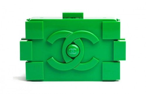 Lego-inspired Chanel clutch. Featured in Elle Magazine. So cute!!