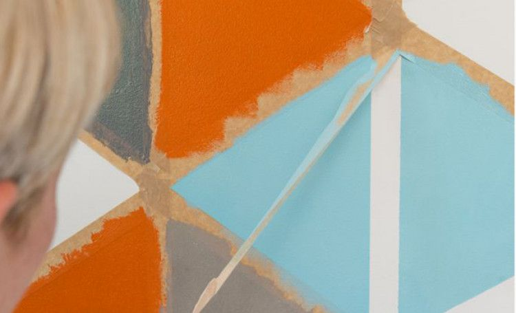 Tutoriel : peindre des motifs géométriques sur un mur (avec images) | Motifs peints, Motif ...