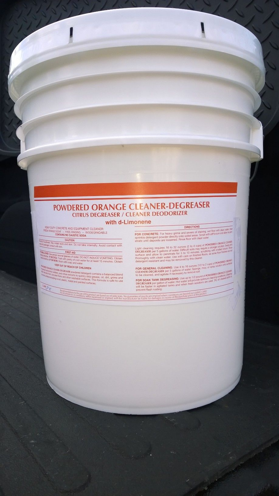 50 Or 25 Lb Units Powdered Orange Cleaner Degreaser