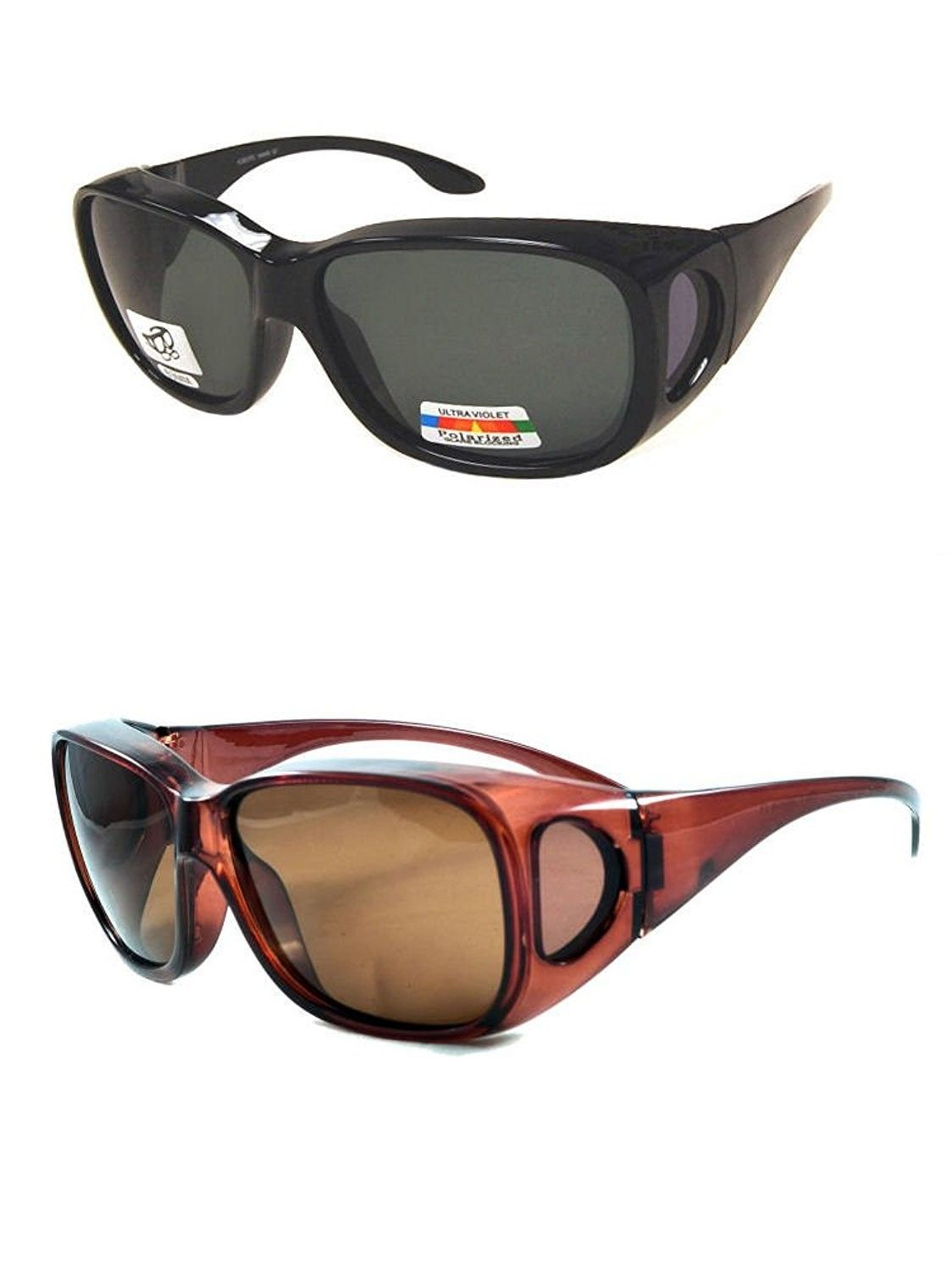 4ac12dfe570fd 2 Pair of Polarized Fit Over Sunglasses for Men and Women - Over ...