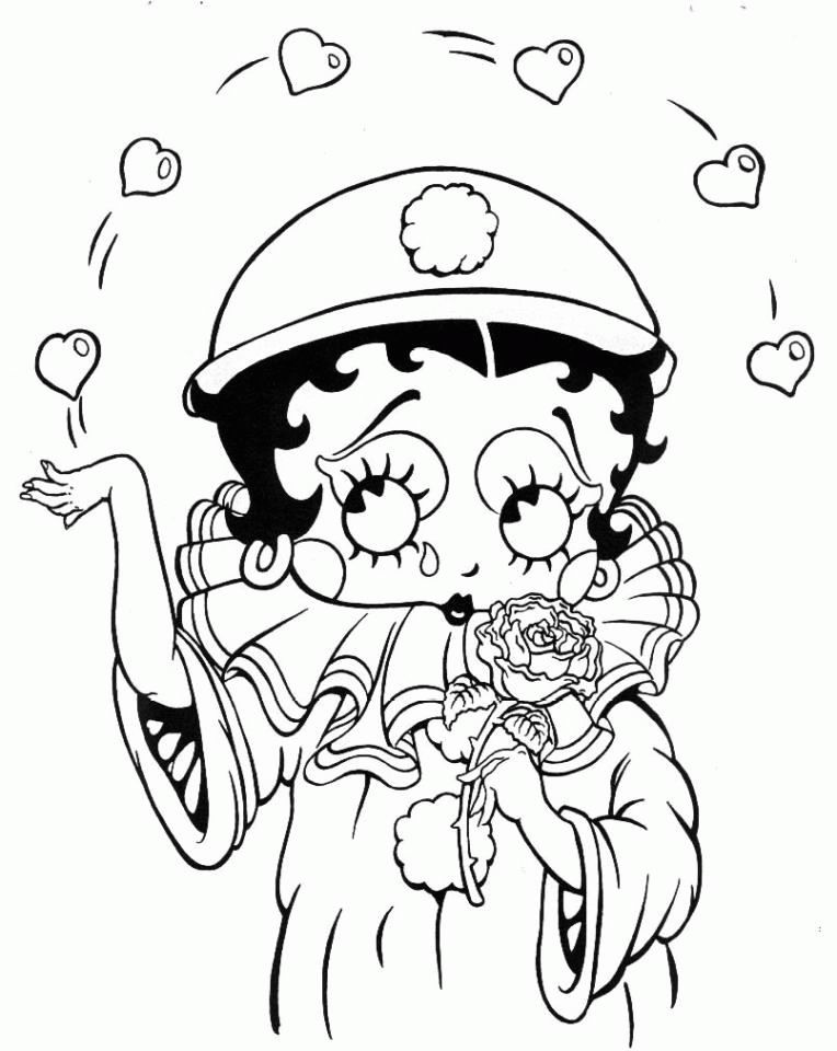 Baby Betty Boop Coloring Pages | home tv series cartoons betty boop ...