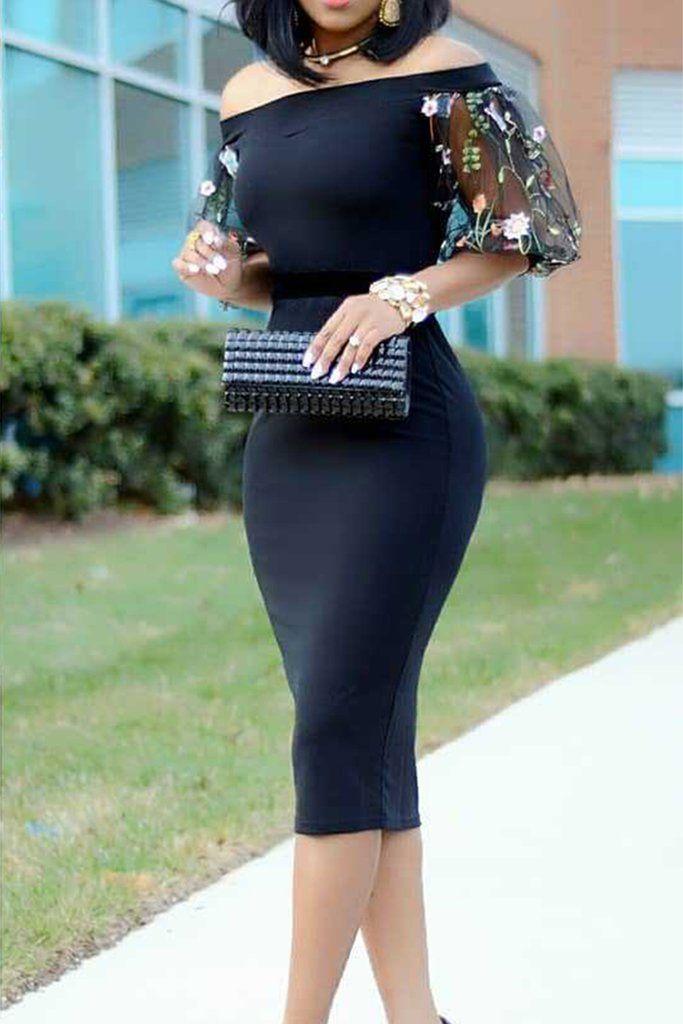 Albuquerque love black bodycon dress off the shoulder door for