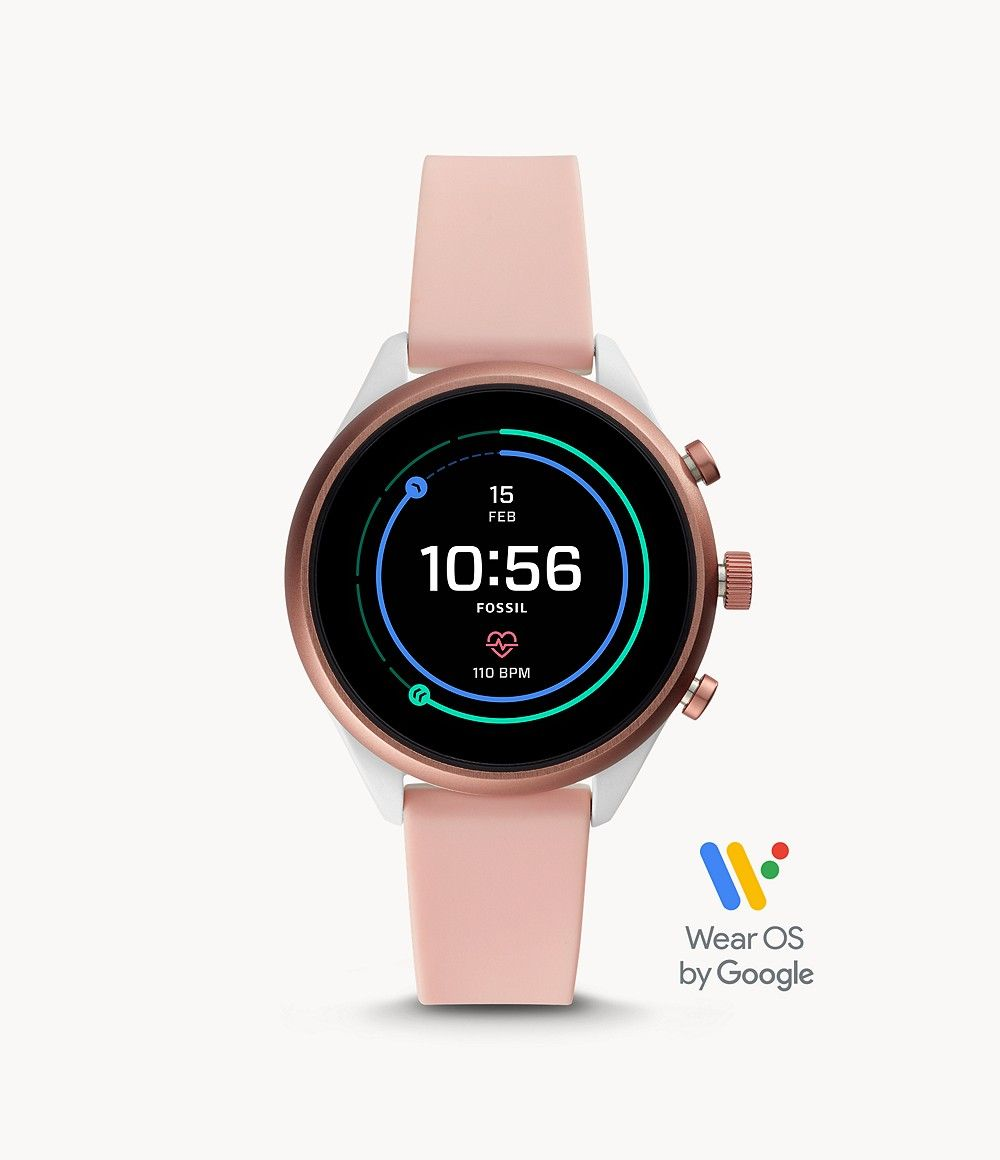 Fossil Women's Fossil Sport Smartwatch Blush Silicone