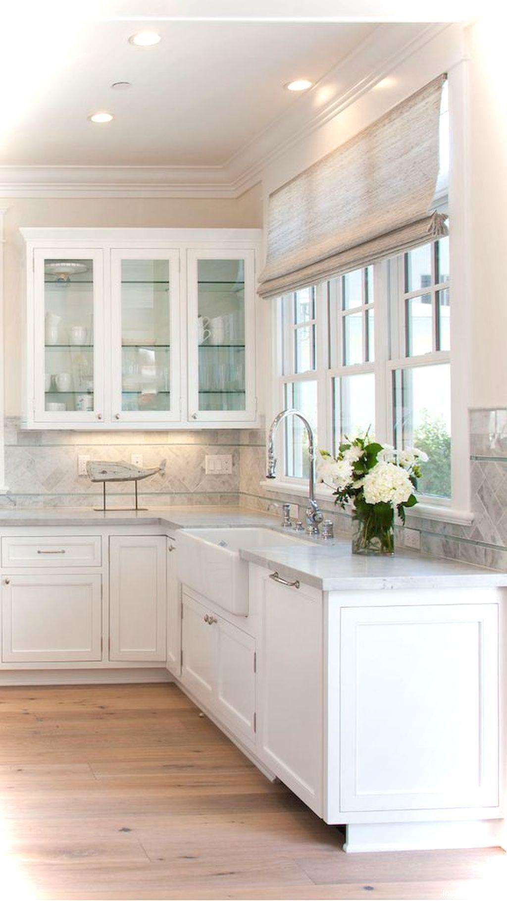 69 Luxury White Cottage Kitchen Cabinets Ideas 35