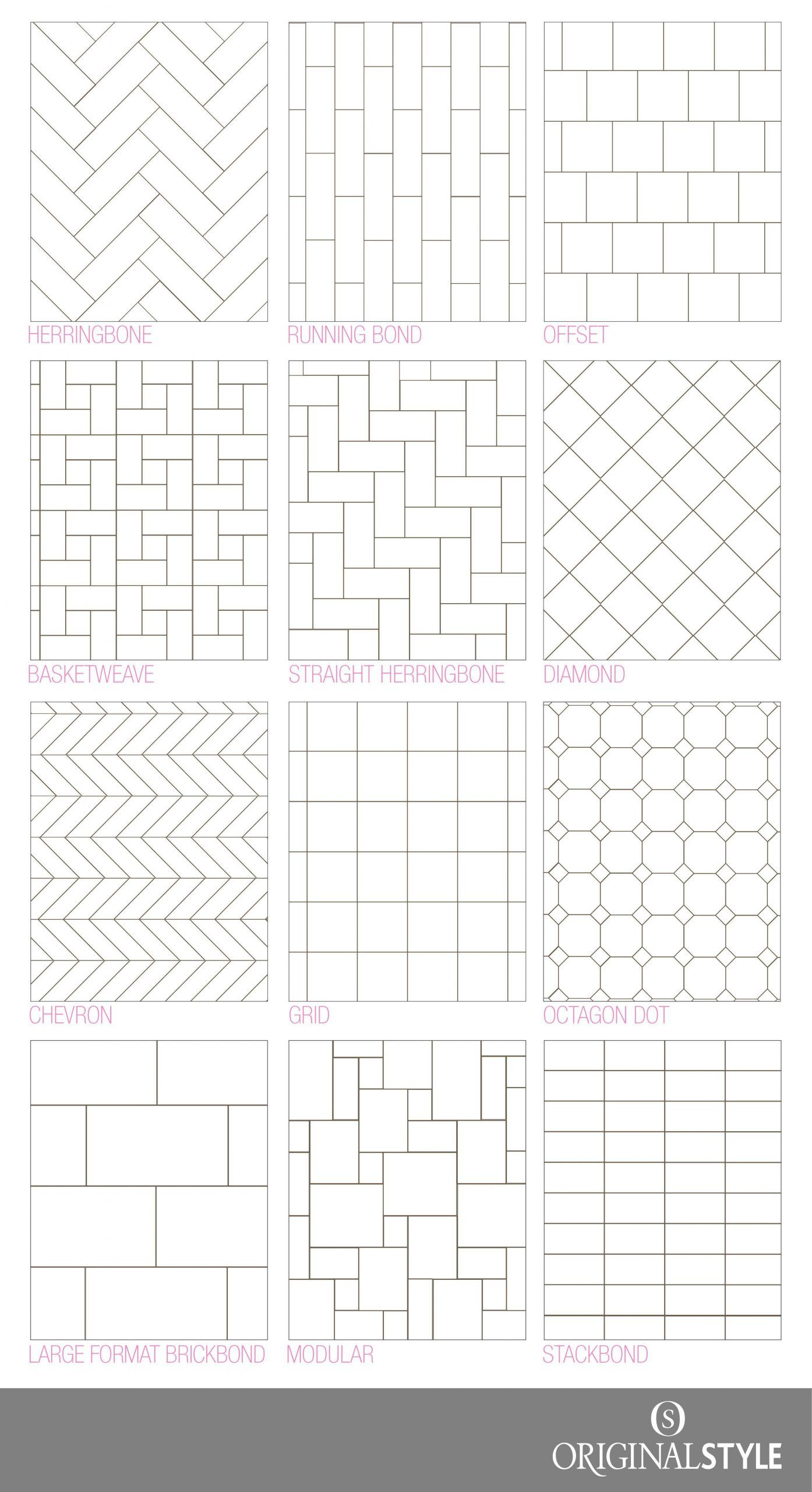 - Your Guide To Tile Pattern Layouts In 2020 Patterned Bathroom