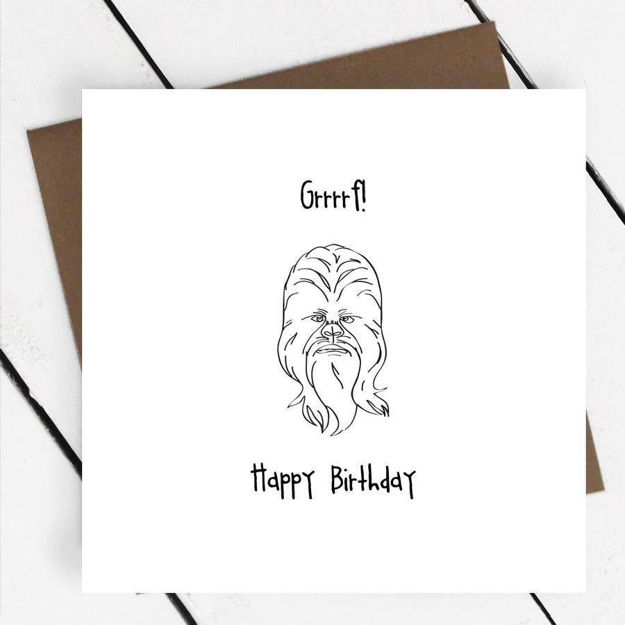 Happy birthday chewbacca star wars greeting card design happy birthday chewbacca star wars greeting card kristyandbryce Images