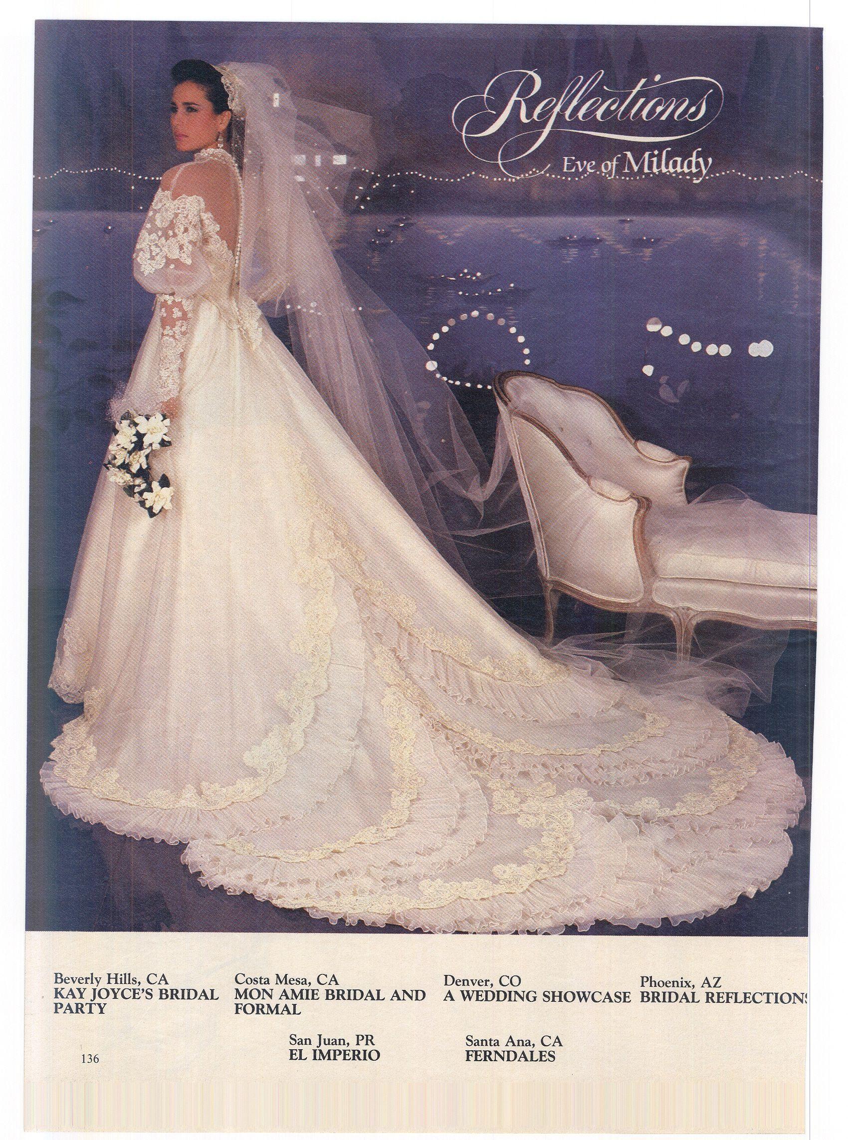 Vintage Boho Wedding Dress Modern Bride Feb Mar 1984