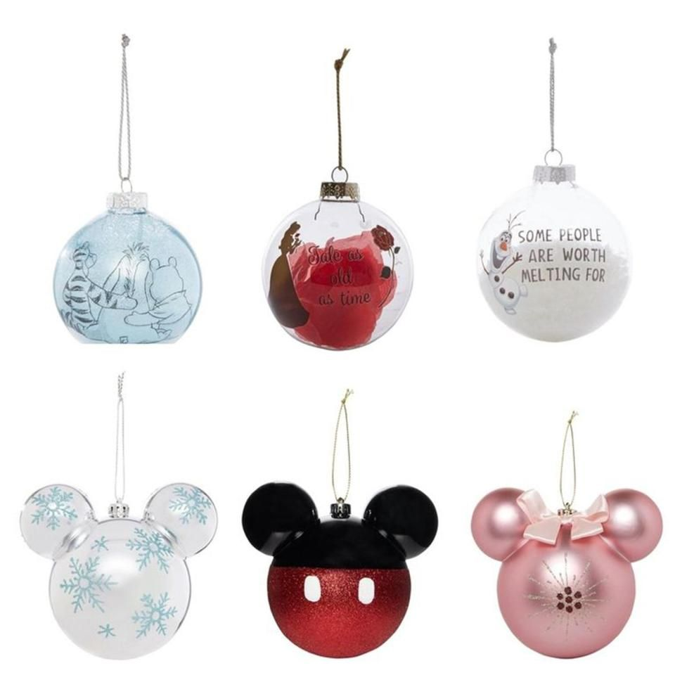 Disney Minnie Mouse Christmas Baubles Set New In Packet Pink