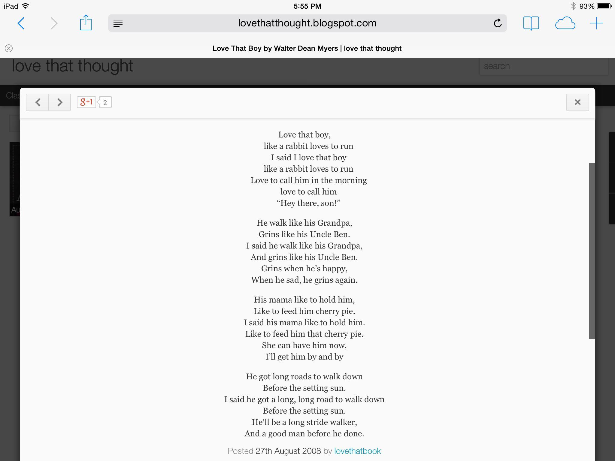 Walter Dean Myers Poems 2