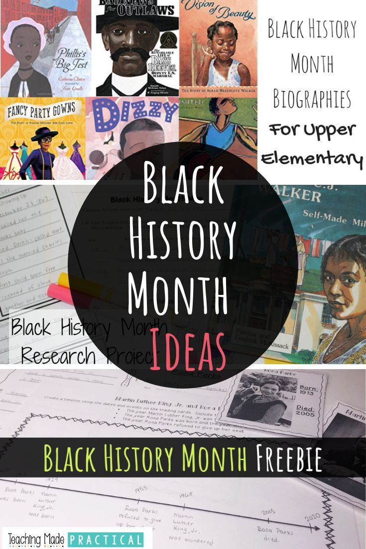 Photo of Black History Month Ideas for Upper Elementary