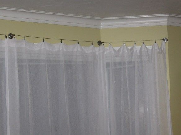 Product Review Ikea Dignitet Wire Curtain Rods Bow Window