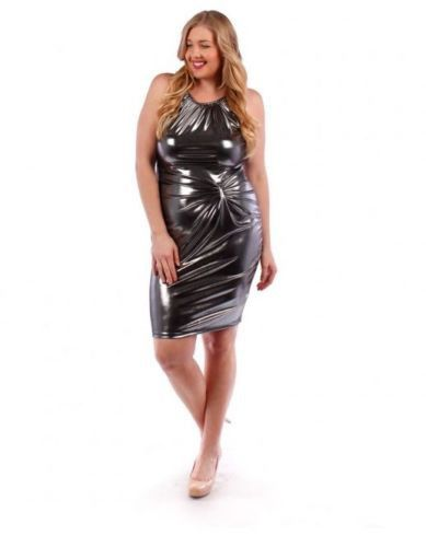 plus size metallic shiny dress sleeveless | crossdressing for my