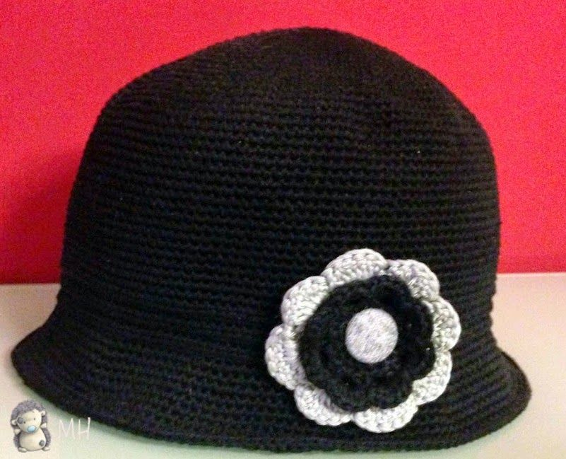 Asombroso Sombrero Cloche Patrón De Crochet Elaboración - Manta de ...