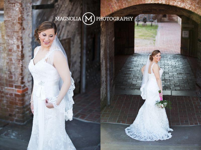 Bridal Portrait Fort Macon NC Magnolia Photography