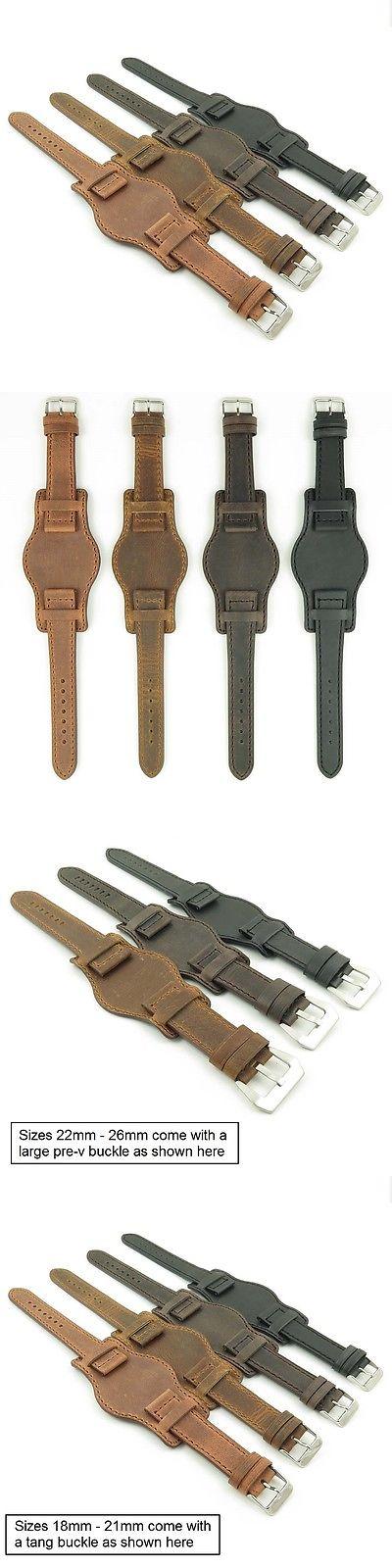 048c9b8b1 Wristwatch Bands 98624: Dassari Legend Distressed Vintage Style Bund Leather  Mens Cuff Watch Band Strap BUY IT NOW ONLY: $39.99