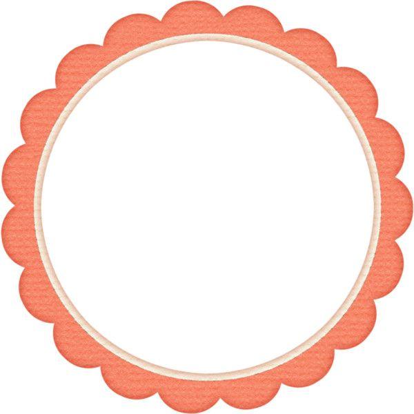 Pd D Scalloped Frame Coral Png Frame Design Polyvore Set