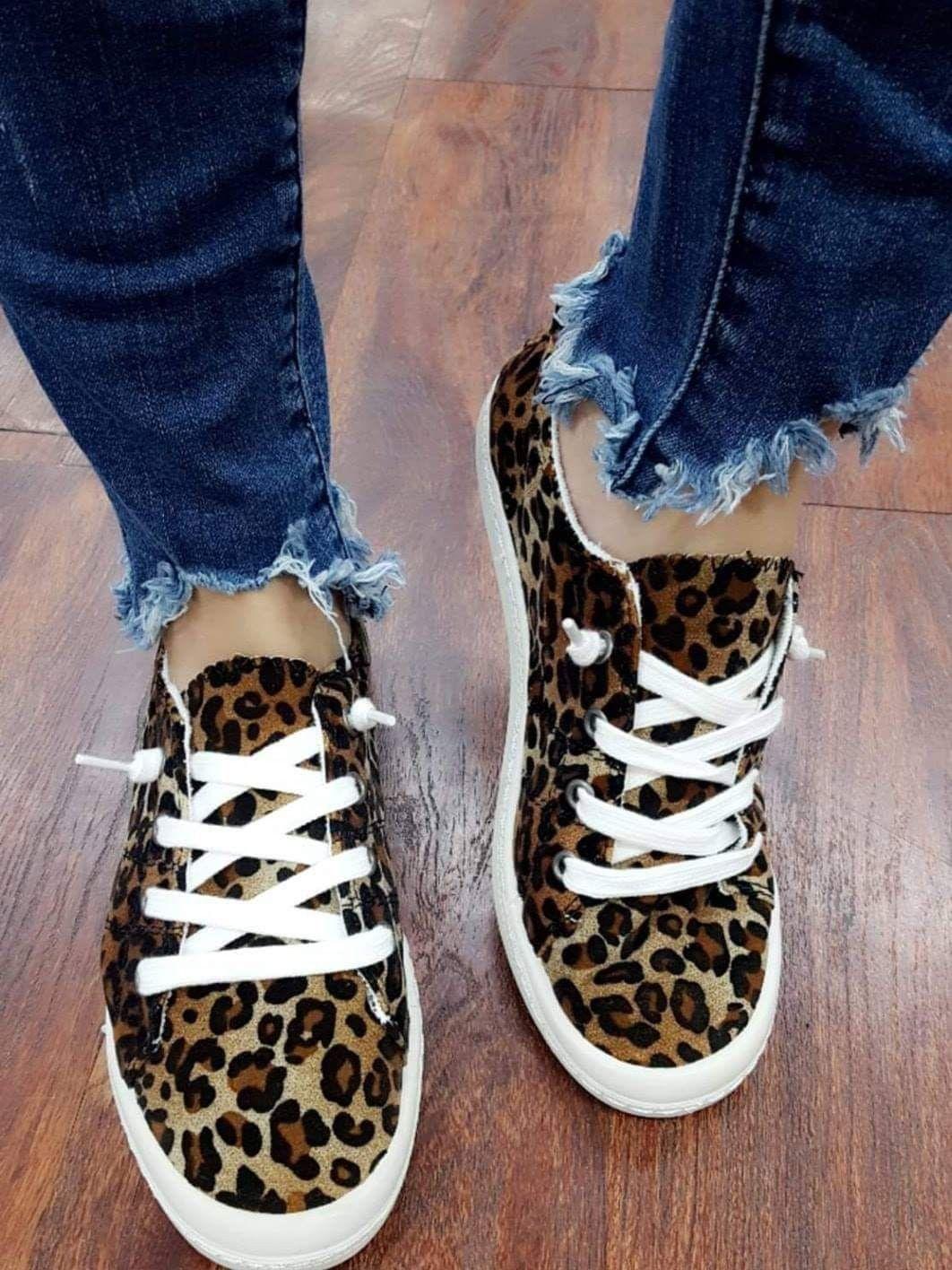 Leopard shoes, Leopard print slip on