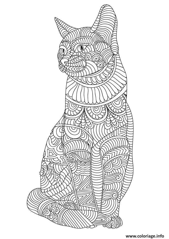 Coloriage A Imprimer Mandala Animaux Chat Coloriage Mandala Coloriage Mandala Animaux Coloriage Chat