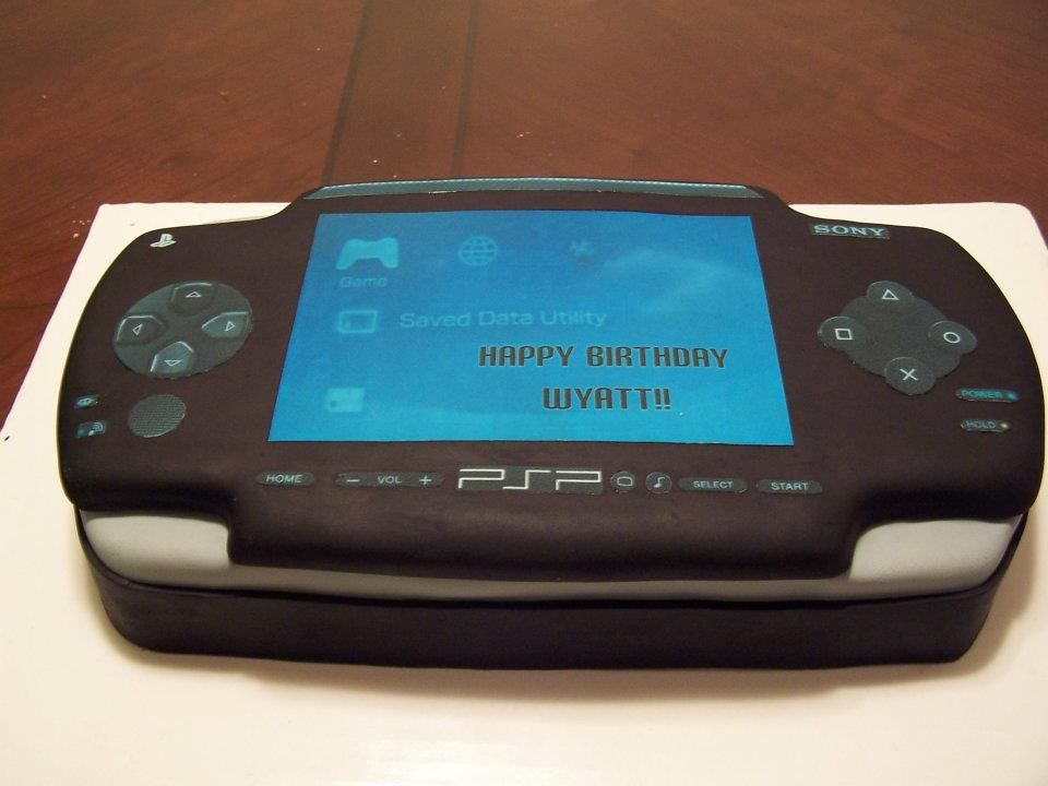Sony PSP cake - edible images for screen and buttons ...
