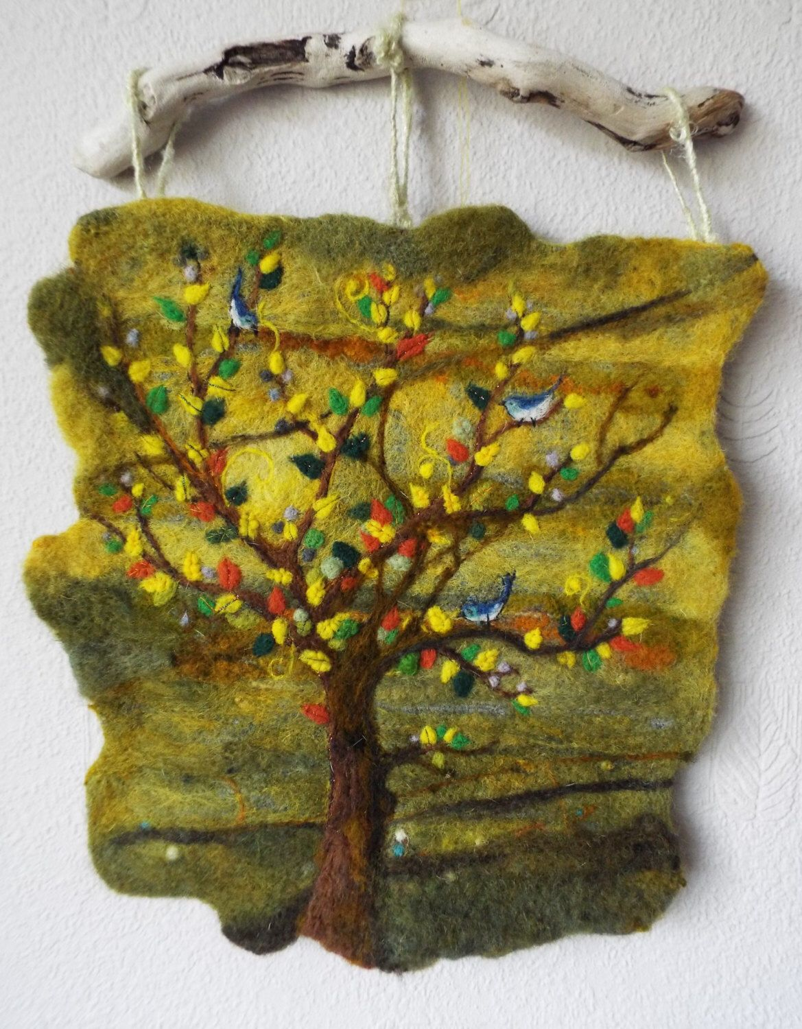 OOAK Needle Felted Art Wall Hanging \'New Day\' by Adele Froude by ...