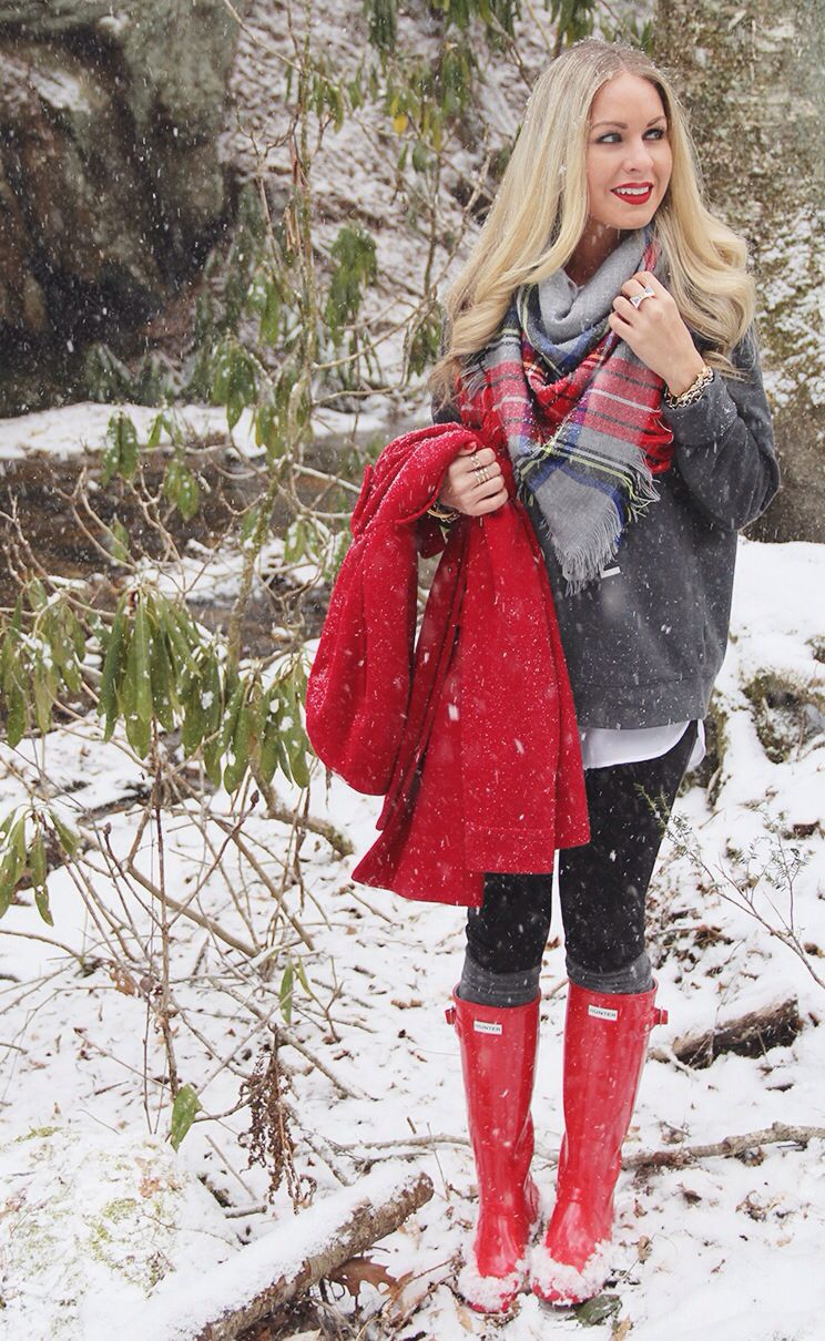1000  images about How to Wear It: Hunter Boots on Pinterest