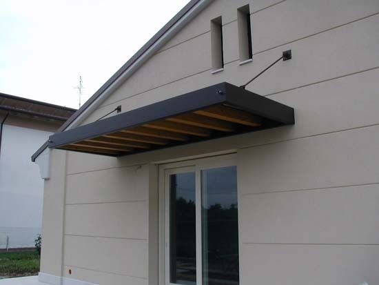 Tettoia in ferro architettura protezione solare pinterest tettoia protezione solare e - Pensiline ingresso casa ...