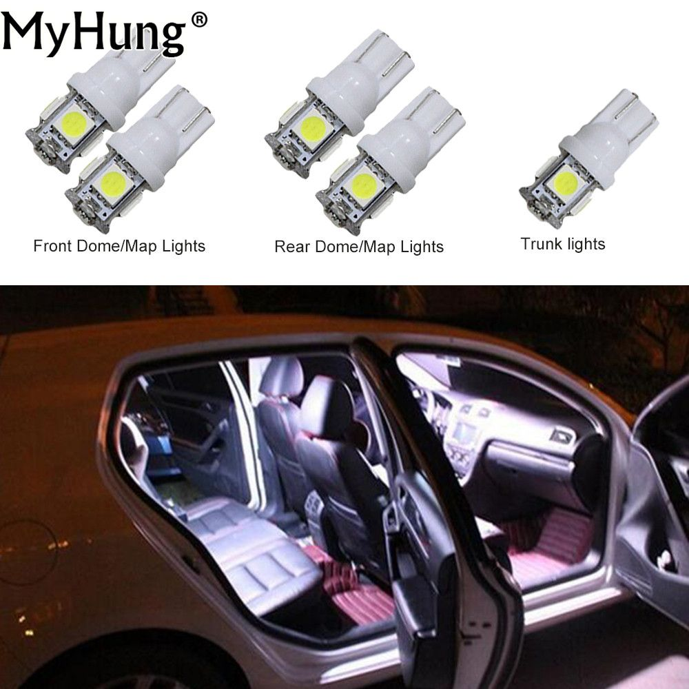 Convenience Bulbs For Infiniti G25 G37 Car Led Headlight C10w W5w Replacement Bulbs Dome Map Lamp Bright White 5pcs Car Led Led Headlights Car