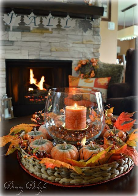 Dining Delight: Autumn coffee table centerpiece