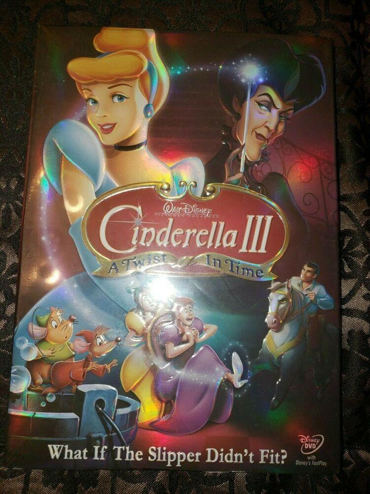 Factory Sealed Disney Cinderella Iii A Twist In Time Dvd 2007