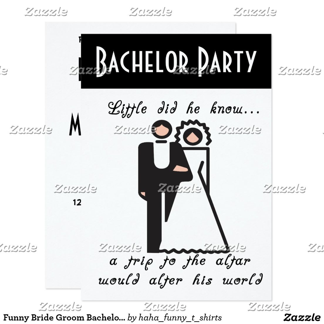 Funny Bride Groom Bachelor Party Invitation | Bachelor Party ...