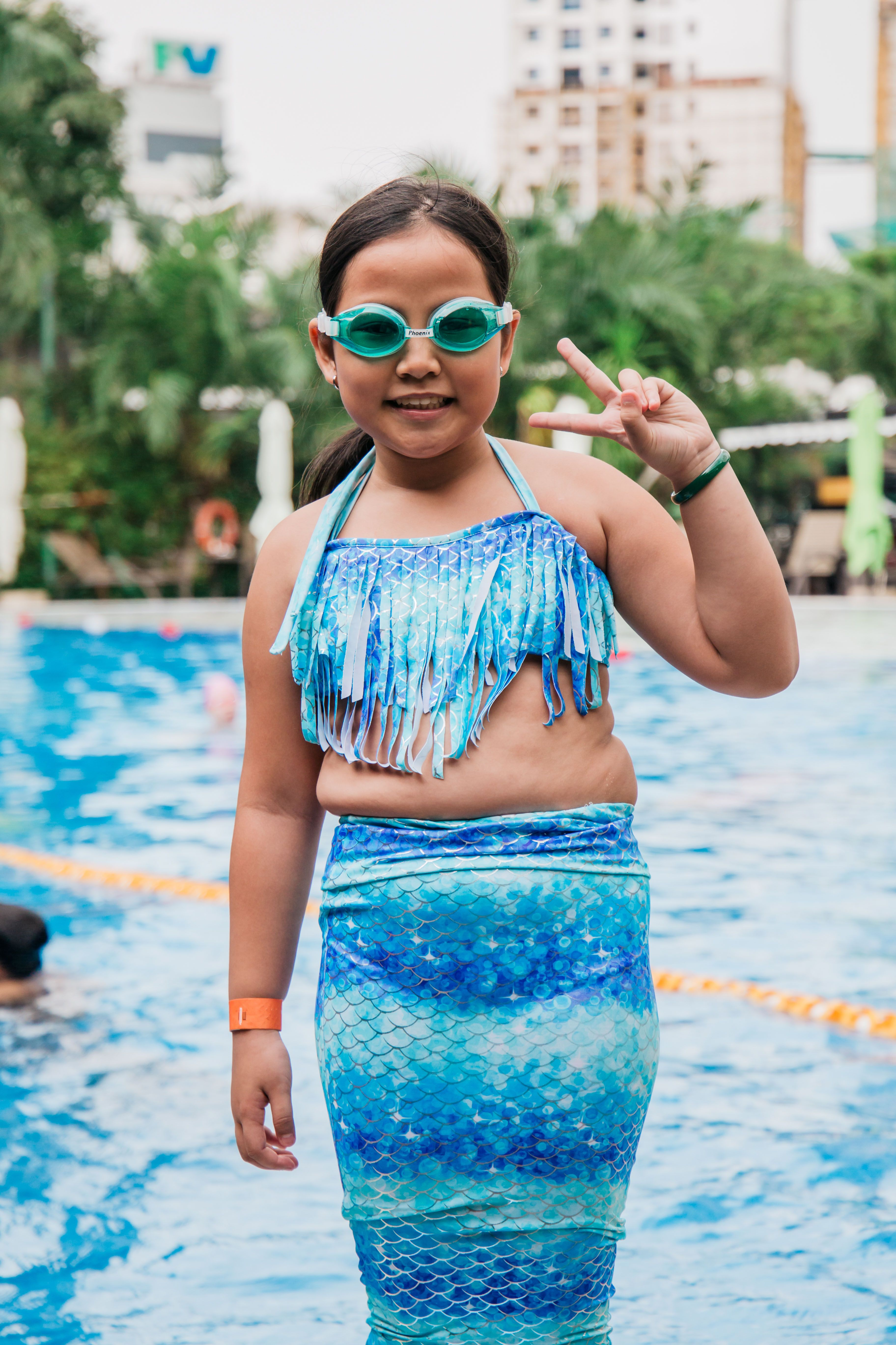 New 2018 Fairy Mermaid Swimsuit For Kids Girls Mermaid Tail With Flipper Beach Wear Suit Swimming Dress Cosplay Costumes Mother & Kids