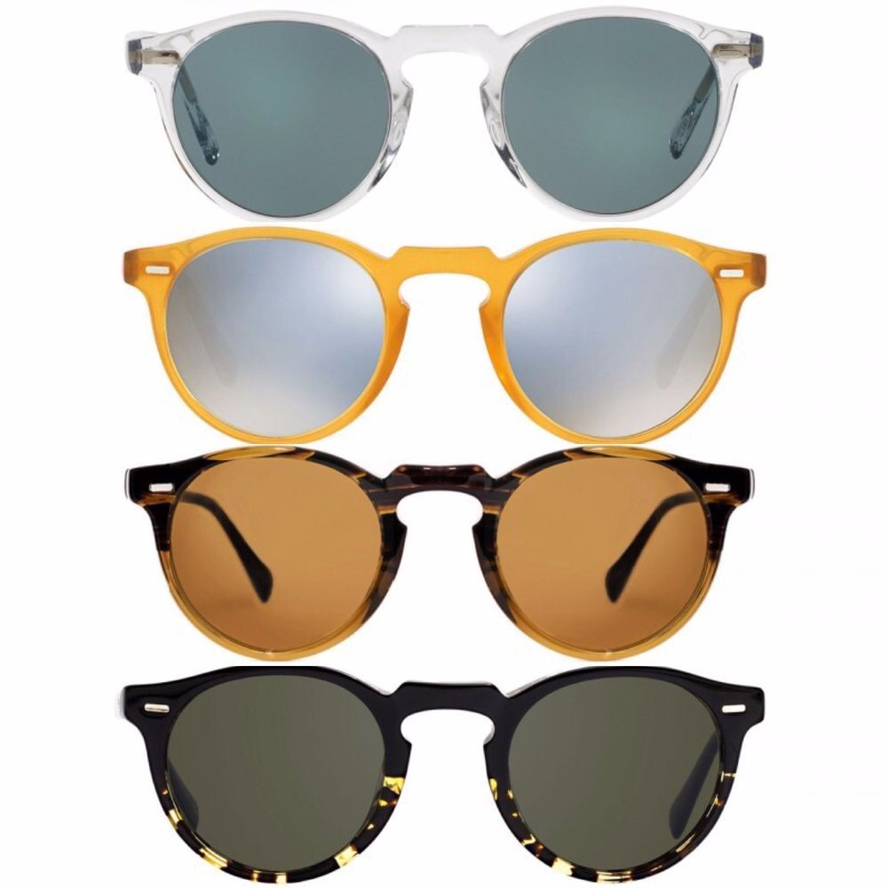 077b602f29 NEW Unisex OLIVER PEOPLES Gregory Peck 47 Sunglasses OV5217S Crystal ...
