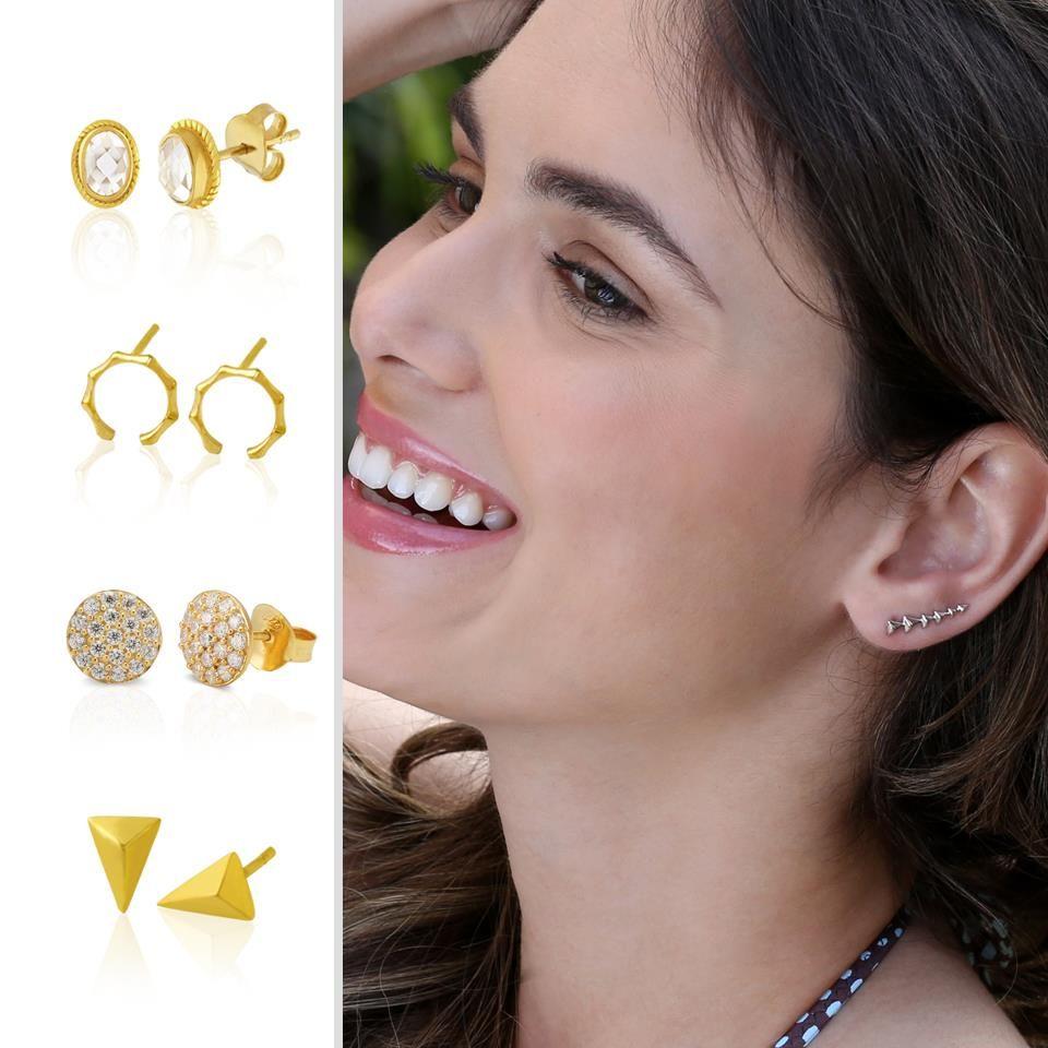 Earrings, earrings, stud earrings :) See many more here also in silver