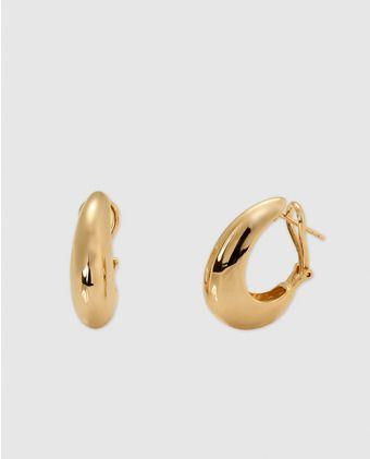 Pendientes Vidal Vidal Con Baño De Oro Liso Aretes De Oro Argollas De Oro Aros De Oro