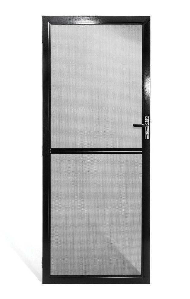 Prowler Proof Security Screen Doors Have Many Manufactured Options A Mid Rail Is One Of Them Add A Mid Rai Security Screen Security Door Security Screen Door