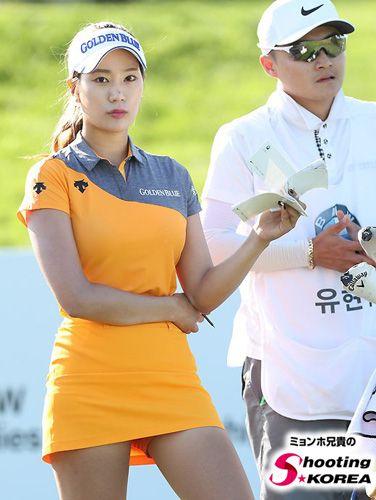 Sexy asiatische Golfer