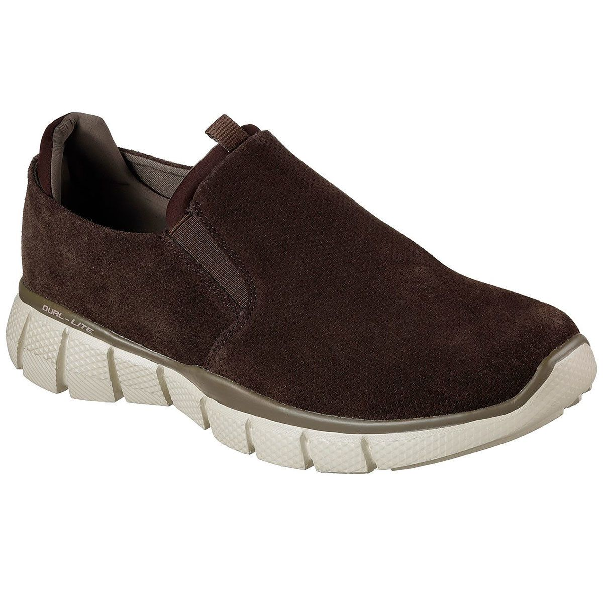 SKECHERS Men's Equalizer 2.0 Lodini Slip On Casual Shoes, Chocolate, Wide